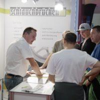 Andreas Umlauf bei der Besucher-Schulung