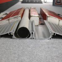 Vergleich 2B-4M Schlauch mit Alu vs. Holz Schlauchbrücke